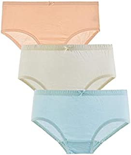 Mariposa Women's Cotton Inner Elastic Plain Panty - Pack Of 3