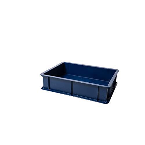 GENUS DEI Dei - Caja para lievitación de pizza y pan, color azul, recipiente para alimentos, caja de masa, caja de plástico azul + tapa blanca, 30 x 40 x 10 cm