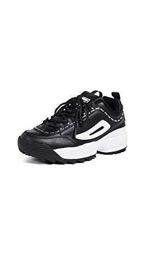 Fila, Disruptor II, Premium Sneaker da donna, Nero (Nero/Bianco), 36.5 EU