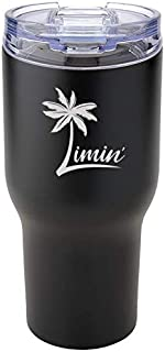 Limin' Stainless Steel Vacuum Insulated Tumbler with Leak Proof Flip Top Lid, Double Walled, Without Lead, Suitable for Tr...