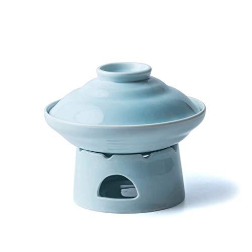 SMEJS Hot Pot Quart Placa de cerámica Olla Profunda Chafer Conjunto Comedor Buffet del Partido del acontecimiento Calefacción Utensilios Vajilla