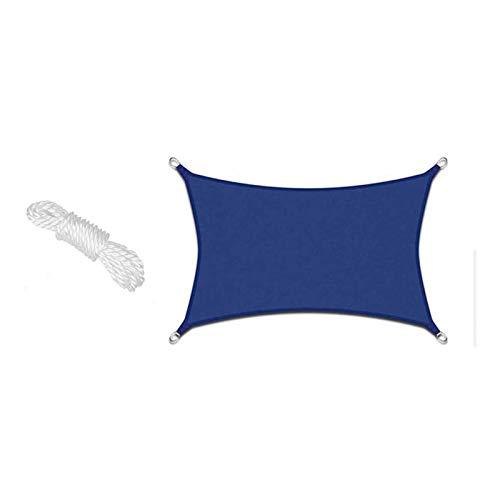 YFFS Sun Shade Sail Garden White Impermeable UV Sun Protective Screen Refugio Toldo Gazebo Canopy Pergola Patio Exterior Interior para Jardín con 4 Cuerdas (2X2X2m,Sapphire)