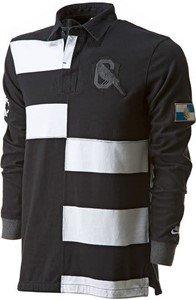 Nike Old School Rugby Shirt zwart/wit Banner Zwart - M
