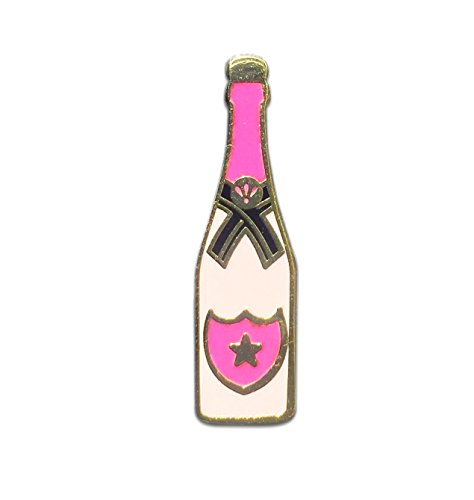 Champagner Pin   Silvester Mitbringsel   JGA Anstecker   Champagner Geschenk   Sekt Geschenk   Geschenke für beste Freundin   Hartemaille Pin   Champagner rose