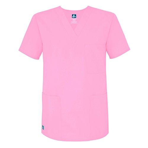Adar Uniforms Medizinische Uniformen Unisex Top Krankenschwester Krankenhaus Berufskleidung 601 Farbe: SBT | Größe: L
