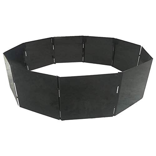 Portable Fire Pit Ring/Insert for Campfires and Bonfires 40' Diameter with 10 Steel Stackable Panels