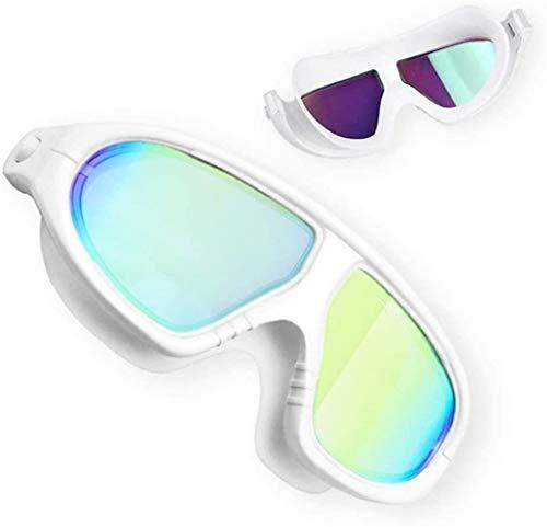 Plztou Gafas de natación Natación Vidrios for Hombres Mujeres jóvenes Ningún Fuga contra la Niebla protección UV 400 Impermeable de 180 Grados Amplia visión Clara Triathlon Piscina for Adultos for al