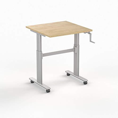 SIT Ständer Schreibtisch 100 HC, Arbeitsplatte erhältlich in 7 Farben, Wild Pears, 80 x 80