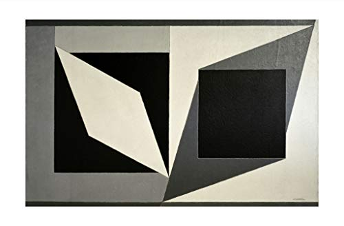 Victor Vasarely - Hommage a Kazimir Malevich 1953 Print 61x91.5cm