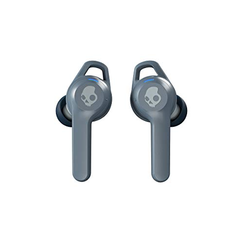 Skullcandy Indy Evo In-Ear-Kopfhörer True Wireless mit Bluetooth-Technologie, Schweiß-, Wasser- und Staubresistent (IP55), Insgesamt 16 Stunden Akkulaufzeit - Chill Grey
