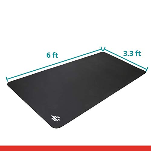 Finer Form Exercise Equipment Floor Mat for Weight Benches, Treadmill, Exercise Bikes, Elliptical, HIIT, Yoga, Tabata, Cardio, Jump Rope in Your Home Gym - Good for both Floor and Carpet