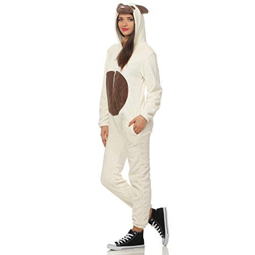 LBB 90A23 Damen Jumpsuit Einteiler Overall Tier Anzug Hund Mops Gr XL