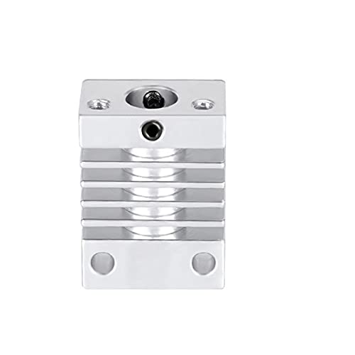 Decorel Bloque de Aluminio de enfriamiento del Fregadero de Calor de la Impresora 3D for Cr10s 3D Partes de la Impresora Mk10 Bloque de Calor extrusora 27 * 20 * 12mm (Color : Green)