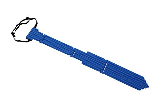 Building Block Necktie Blue Costume Accessory for Adults and Kids