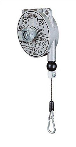 PLANETA G30002 Federzug mit Aluminium-Druckguss-Gehäuse, TCN 9313, Tragfähigkeit 2.0 kg-3.0 kg, Seillänge 1.6 m, Edelstahl-Drahtseil Durchmesser 2.0 mm