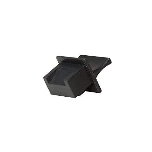 Faconet® 50x RJ45 Staubschutz Schutzkappe Hüllen für Switch Patch Panel Router LAN Buchse Schutzstecker schwarz, RJ 45 Socket protecter snap-in and dust Cover