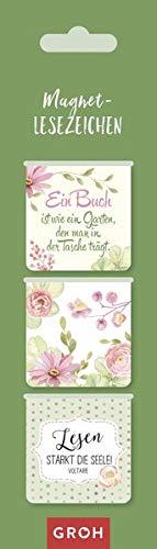 Magnetlesezeichen Ein Buch ist wie ein Garten, den man in der Tasche trägt.: magnetisches Lesezeichen