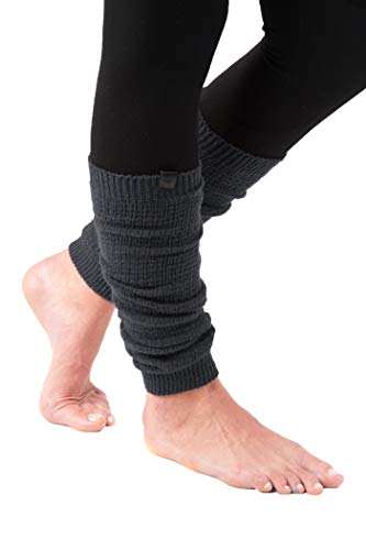 Marino Long Leg Warmers For Women - Winter Knee High Knit Leg Warmer Socks, Enclosed in an Elegant Gift Box (Dark Gray)