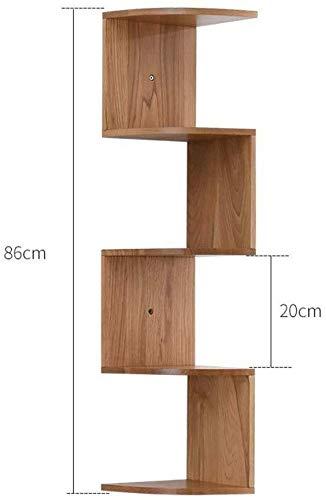 Drijvende plank drijvende wandplank rustiek hoekplank woondecoratie plank plank organizer notenhout 3 lagen (kleur: stam grootte: 7 lagen) 5 layers Log