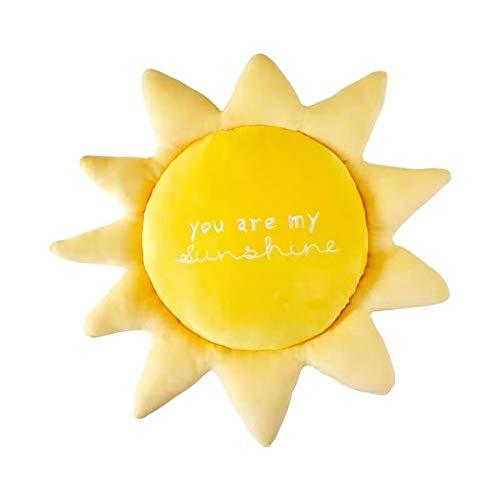TIANLIYUN Plüschkissen Hautfreundliche PP Baumwolle Plüschtiere Wetter Regenbogen Sonne Wolke Bett Kissen Kissen Kissen (Color : A, Size : 43-65CM)
