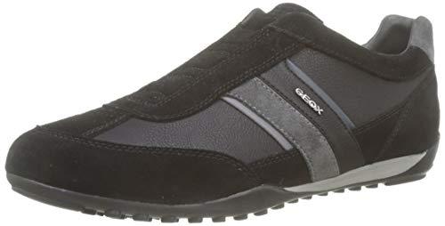 Geox U Wells F, Zapatillas Hombre, Black Dk Jeans, 41 EU