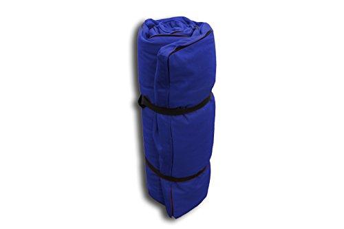Futón Portátil Azul, 140x200x4 cm