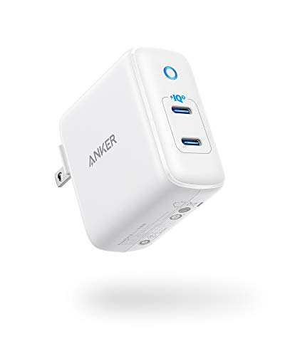 iPhone Charger USB-C, Anker 40W 2-Port PIQ 3.0, PowerPort III Duo Type C Foldable Fast Charger, Power Delivery for iPhone 13/13 Mini/13 Pro/13 Pro Max/12/11, Galaxy, Pixel, iPad/iPad Mini, and More