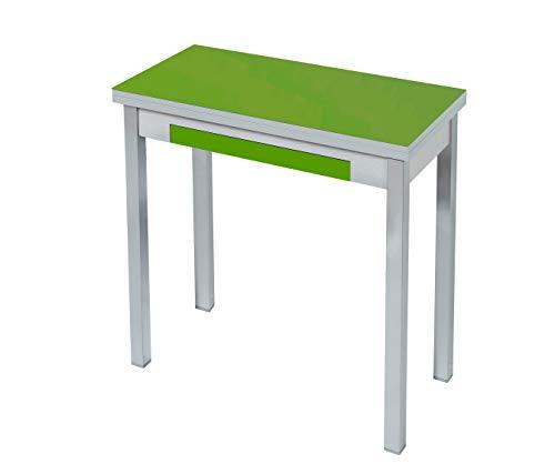 ASTIMESA Mesa de Cocina Tipo Libro Verde 40X80cm