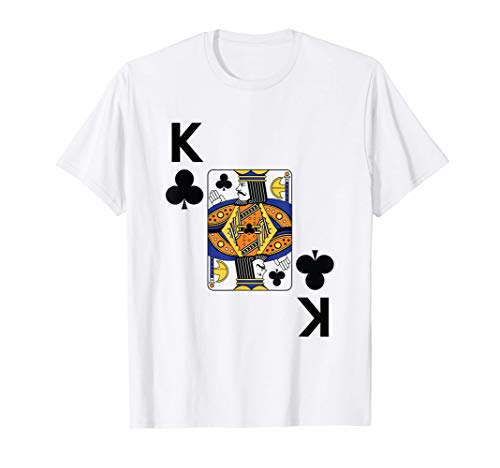 King of Clubs Tshirt poker playing card group costume Tシャツ