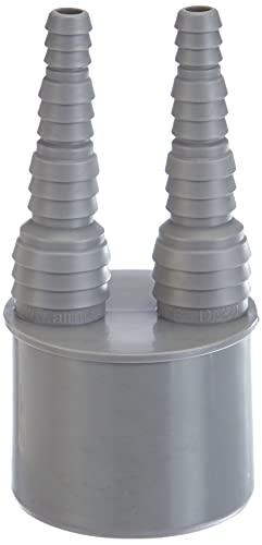 Airfit -50020SN- Doppel-Schlauchnippel DN 50 für Schlauch von 8 bis 19 mm - KS-grau