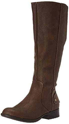 LifeStride Women's Xandy Riding Boot, Dark Tan, 8 M US