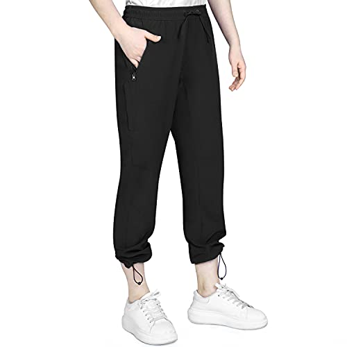 Outdoor Ventures Women's Hiking Golf Pants Water-Resistant Sweatpants Lightweight Lounge Cargo Pants for Women with Pockets