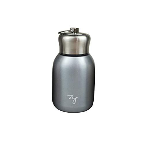Minitermos de café de 300 ml, termo de viaje, termo de acero inoxidable, para uso en interiores y exteriores plata
