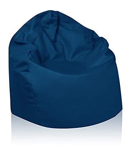 B58-Berlin Sitzsack XL Bag Sitzkissen Bodenkissen Kissen Sack In-und Outdoor 15 Farben (Marine)