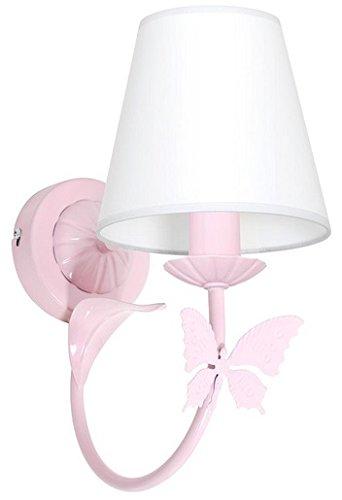 MINI MOTYL I / Farfalla Rosa chiaro Applique da parete Lampada da parete Lampada per bambini Bambini luce