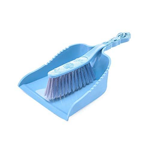 longsing Cepillo de Limpieza Suave Escoba de Mano Pan y Cepillo Conjunto de Polvo Hotel Family Ropa Dust Sofá Sofá Sofá Sofá Sábanas Limpieza de alfombras (Color : Blue)