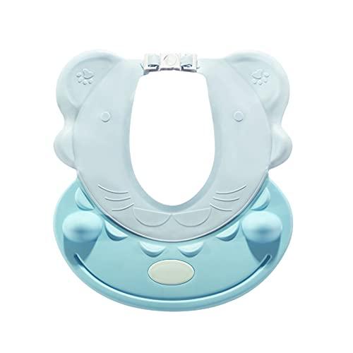 YSJJOSX Gorro Ducha Bebe Empresa actualizada bebé Infantil Impermeable TPE Ducha Champú Cap Wash Hair Kids Bath Visor Hats Ajustable Shield Protección de los Ojos (Color : Lakeblue no Earmuffs)