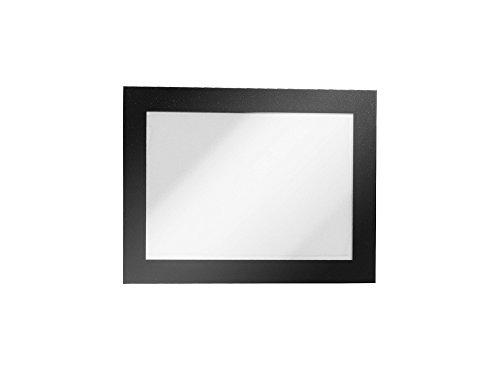 Durable 487001 Info-Rahmen Duraframe (A6, selbstklebend mit Magnetverschluss) 2 Stück schwarz
