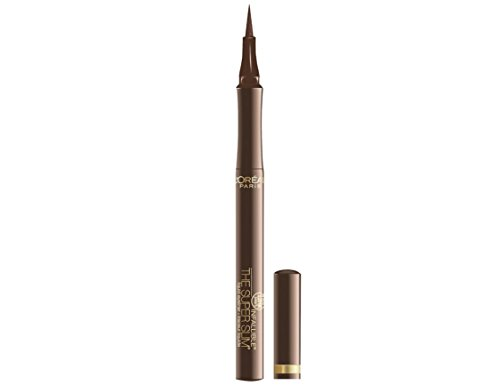L'Oreal Paris Makeup Infallible Super Slim Long-Lasting Liquid Eyeliner, Ultra-Fine Felt Tip, Quick Drying Formula, Glides on Smoothly, Brown, Pack of 1