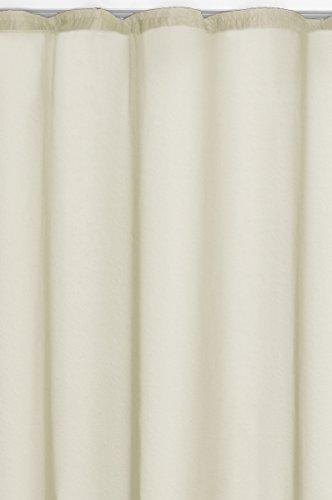 Gardine-Vorhang Transparent Kräuselband in Creme Champagner 245x140 cm (Höhe x Breite) | Dekoschal Voile Uni - einfarbig | Universalband Fensterschal Store | Fertiggardine Durchsichtig