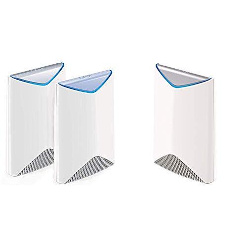 NETGEAR ORBI PRO Système Wifi Mesh amplificateur ultra puissant pour entreprise SRK60 (1 routeur + 2 satellites extender)– Jusqu'à 525m² de couverture