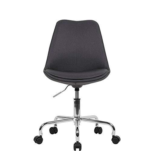 SXNYLY Las sillas de Escritorio Silla de la computadora en casa Silla ergonomica de Oficina giratoria Ajustable No Apoyabrazos Giratorio de Conferencia Sala de Tarea (Color : Si)