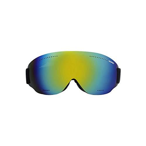 DAIJIA Gafas de esquí de una sola capa sin marco, espejos a prueba de viento para deportes de invierno, gafas de ciclismo de snowboard para hombres y mujeres (E, 1PC)