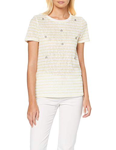 Only Onlmandy S/s Bling Top Box Jrs Camiseta, Blanco, 36 (Talla del Fabricante:) para Mujer