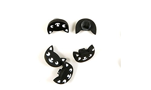 Sale!! 390 PCS Sewing Notions Supplies Fasteners Buttons Sew On 00107 Black Cat Head Wooden Clothing...