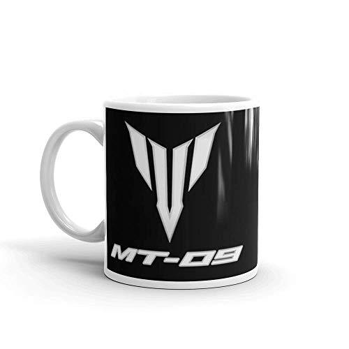 Logotipo de Yamaha MT09. Taza de regalo brillante de cerámica de 11 onzas para los amantes del café Regalos para hombres y mujeres. Tazas de café clásicas de 11 oz, asa en C y construcción de cerámica