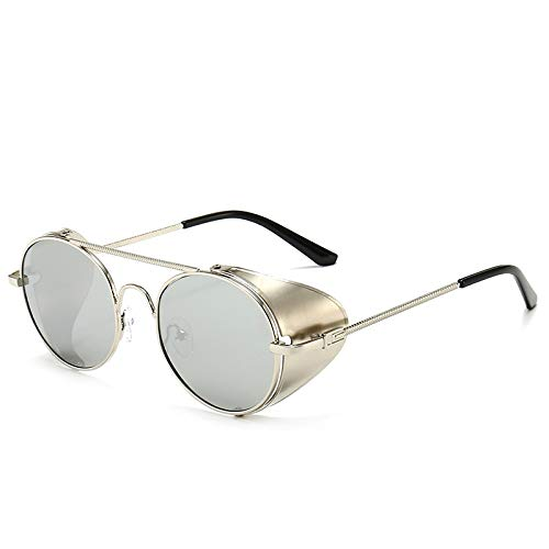 Gafas de Sol Sunglasses Gafas De Sol De Estilo Steampunk De Lujo Vintage Cubierta Lateral De Metal Fresco Tallado Diseño De Marca Punk Gafas De Sol C8