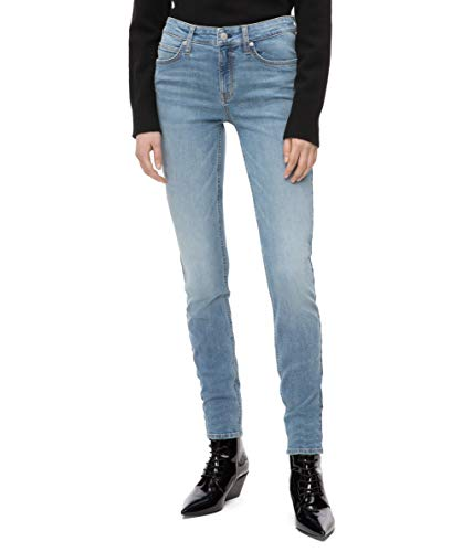 Calvin Klein Women's Mid Rise Skinny Fit Jeans, Mallibu blue light, 32W X 28L