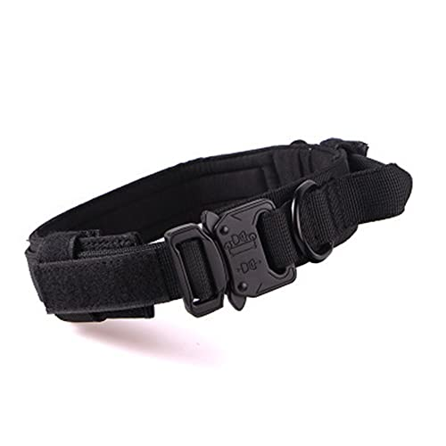 Collar de Perro Táctico,Collares de Perro de Entrenamiento Militar Ajustables con Mango de Control,Hebilla de Metal Resistente de Nailon,M, L, XL