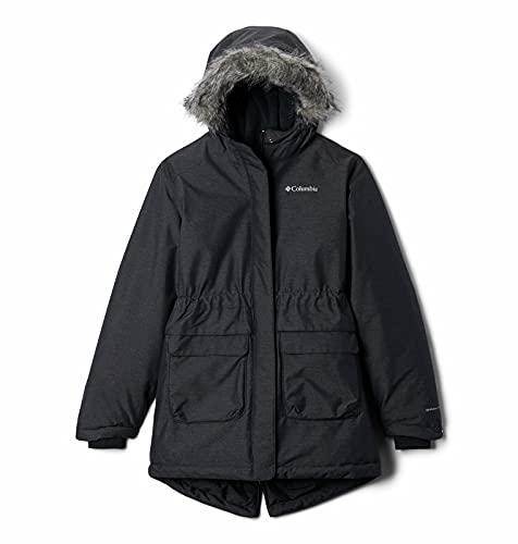 Columbia Sportswear Columbia Mädchen Nordic Strider Wasserdichte Winterjacke, Schwarz (Black), XXS